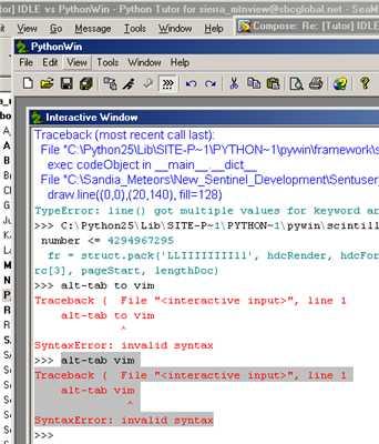 pythonwin editor